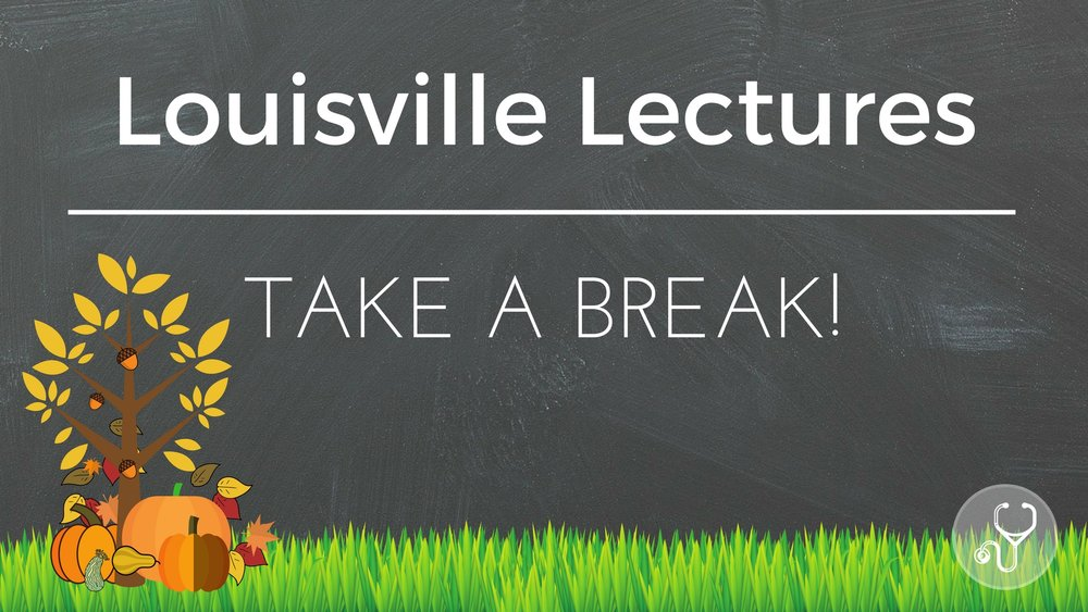 This week... - ... Louisville Lectures will be taking a break. You should too - but you can't!  Below are a couple of lectures that could be useful for this upcoming season: