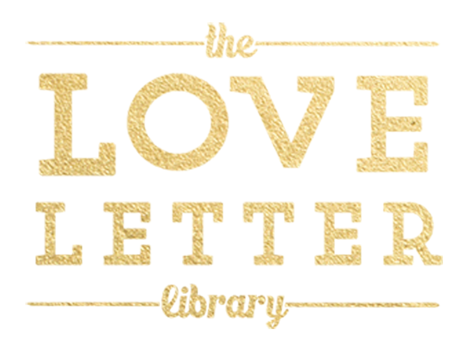 the love letter library presents the great love drop