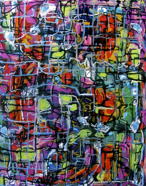 "Amazed: 24""x36"", Acrylic on canvas"