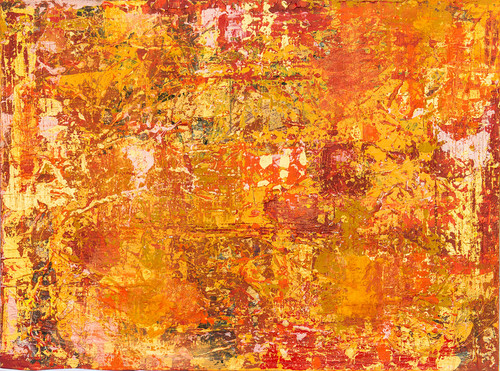 "Orange Crush: 40""x30"", Acrylic on canvas"