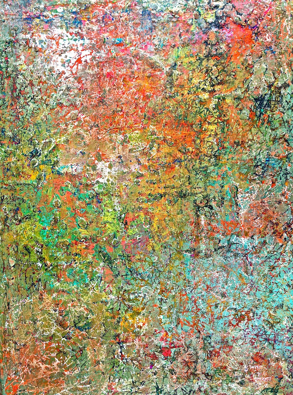 "Abstract Meditation: 24""x36"", Acrylic on Canvas"