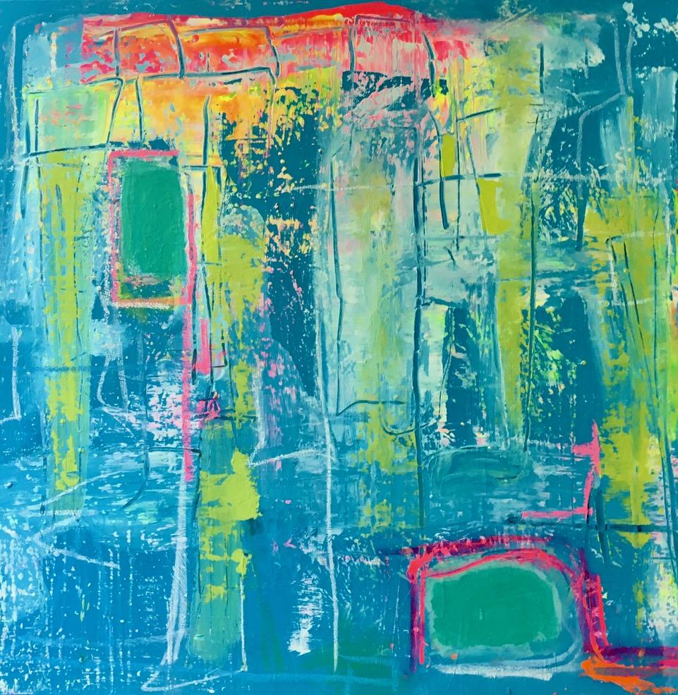 """Blue Light, 30""""x36"""", Acrylic on canvas"""