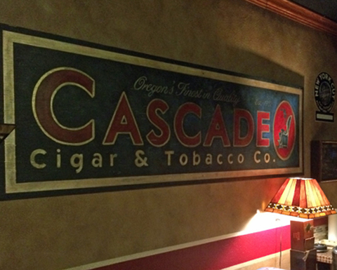 Custom Cascade Cigar sign
