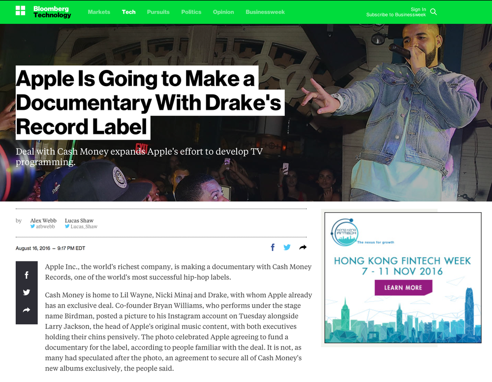 http://www.bloomberg.com/news/articles/2016-08-17/apple-is-going-to-make-a-documentary-with-drake-s-record-label