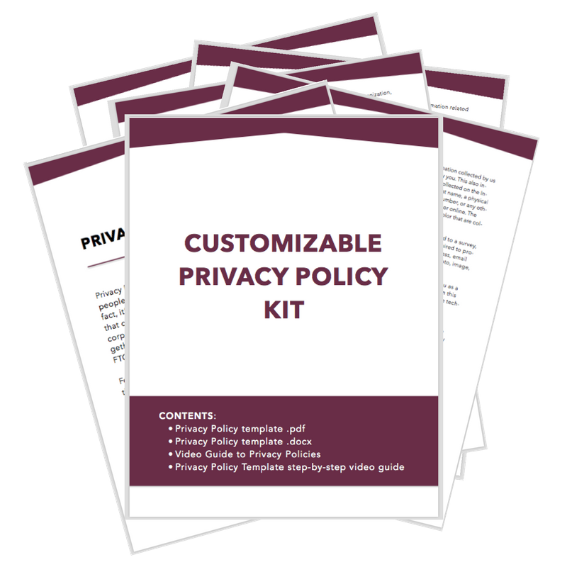 Professional Website Privacy Policy Temi Siyanbade Houston - Online privacy policy template
