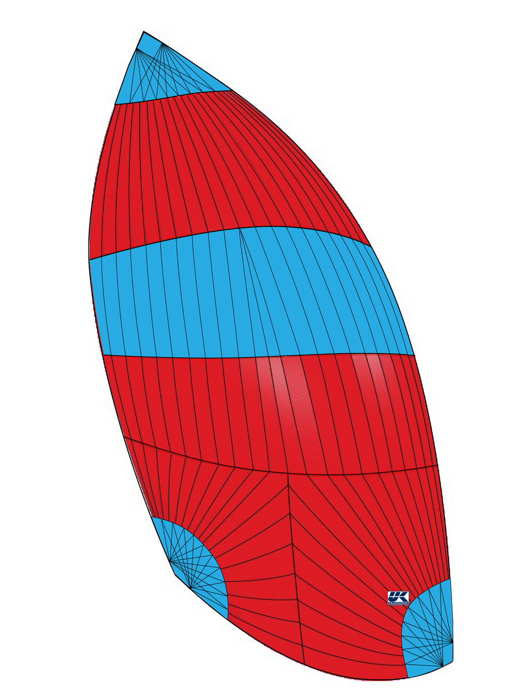 UK Sailmakers Cruising Spinnaker Flasher Drawing