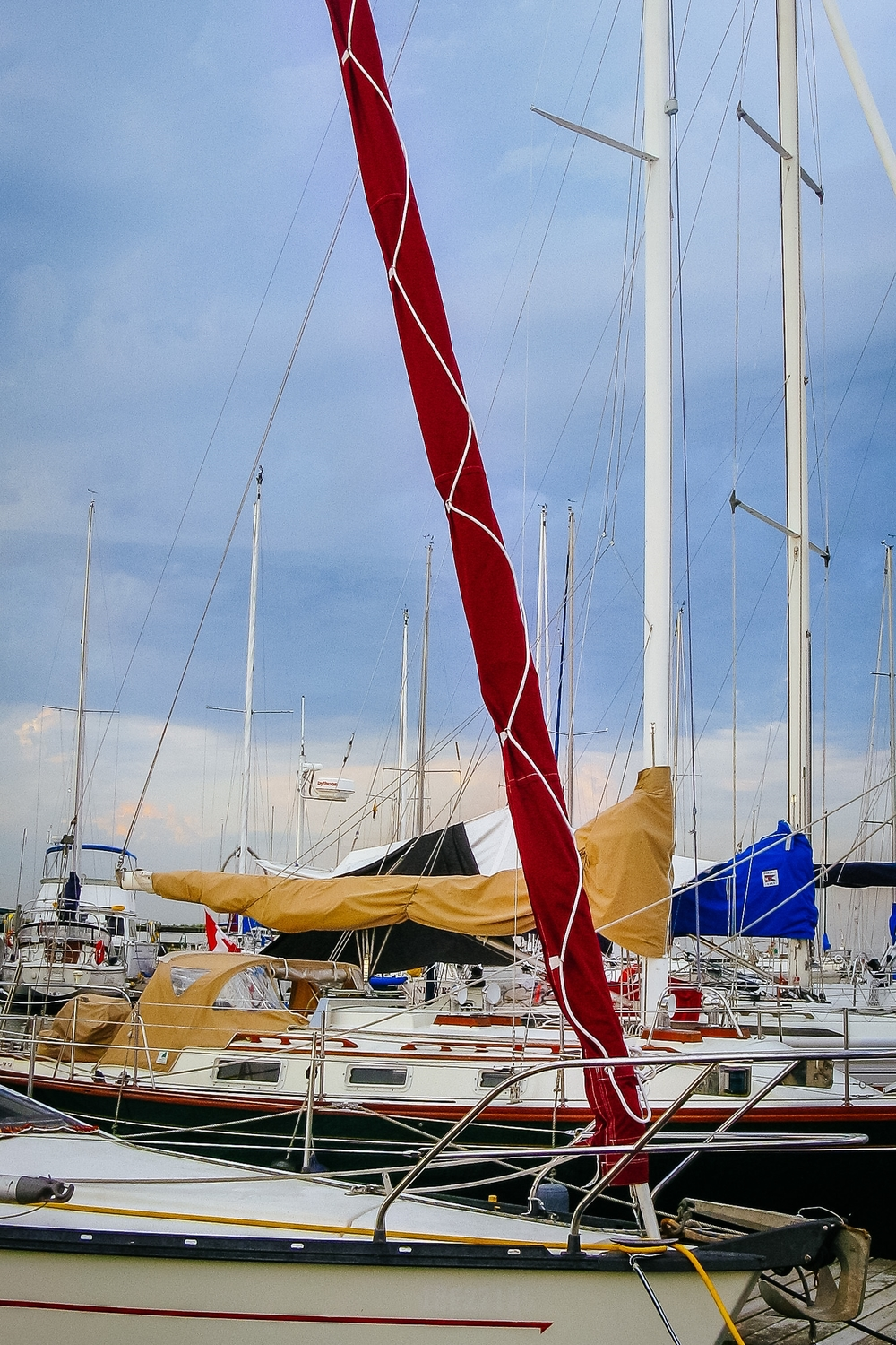 UK Sailmakers Racing Genoa Red Jib Sock