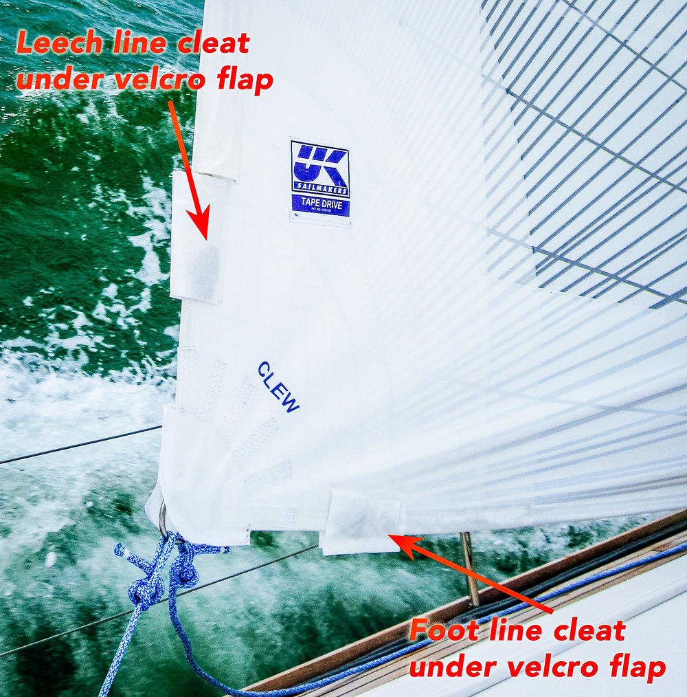 UK Sailmakers Leech FootLines