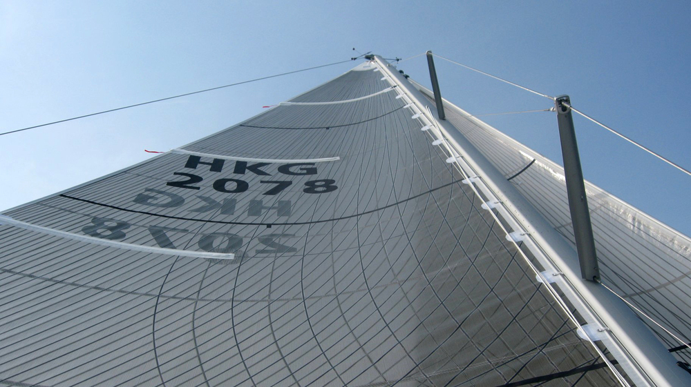 A Tape-Drive Powerhead mainsail.