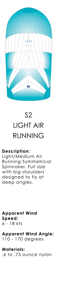 UK+Sailmakers+S2+Symmetrical+Spinnaker+Light+Air+Running