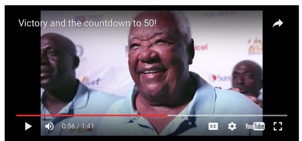 Click to see a video with shots from ASW 2016 and Sir Hugh commenting about being the only skipper to sail in all 49 Antigua Sailing Weeks.