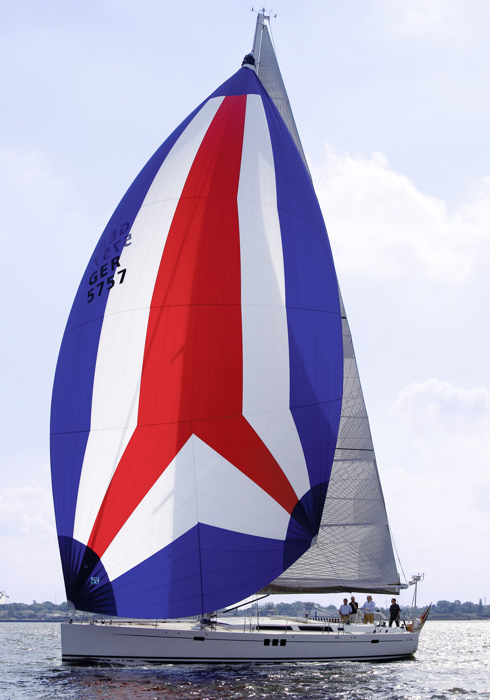 UK Sailmakers cruising spinnaker makes downwind sailing more fun on boats of all sizes.