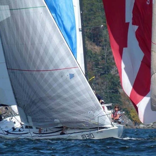 Overall winner on the medium course of the Southern Straits Race was Eldin Miller-Stead's BEATS PER MINUTE, shown above with her X-Drive No. 1 that is light enough for light and strong enough to carry until No. 3 conditions. Andrew Madding Photo.