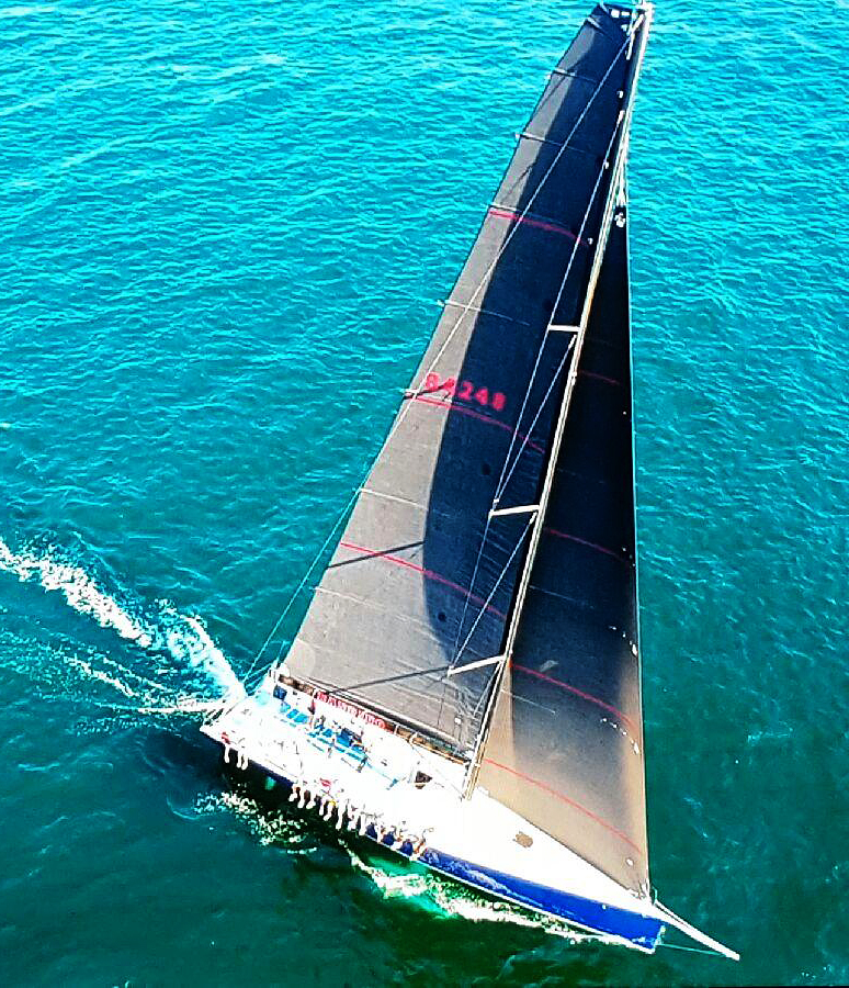 The Reichel/Pugh Southern Cross 52 BANDIDO with Uni-Titanium sails made with 100% carbon fiber.