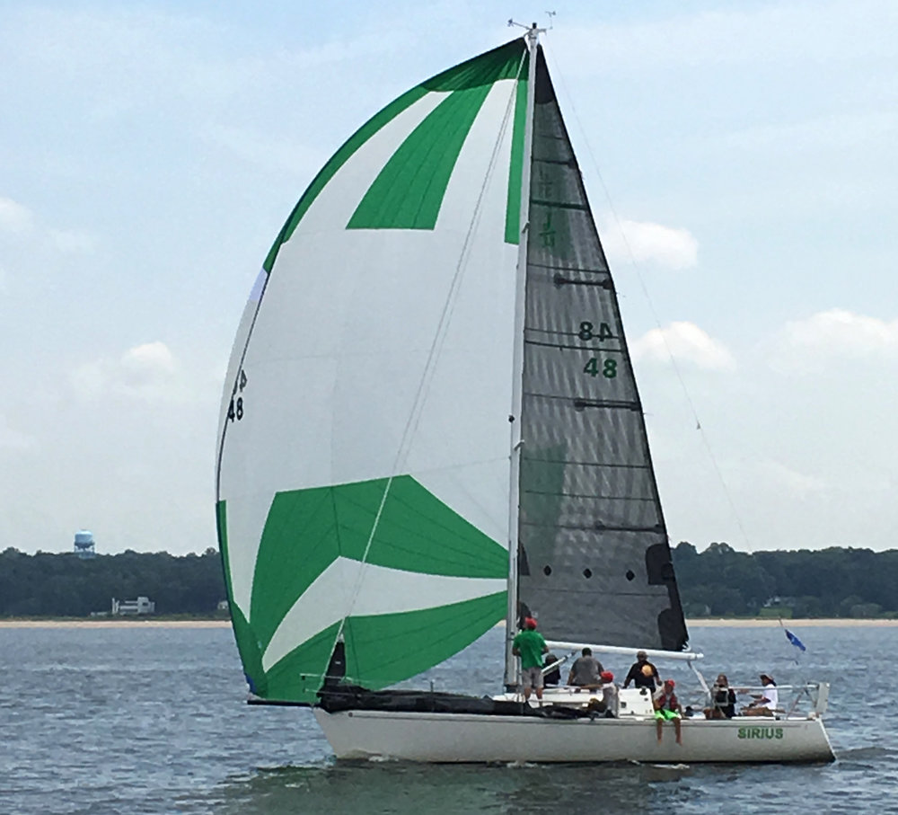 J/33 SIRIUS sailing with her new X-Drive Carbon main.