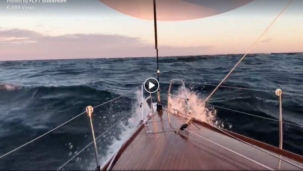 Video shot on FLYT speeding down the Baltic Sea to Gotland Island.