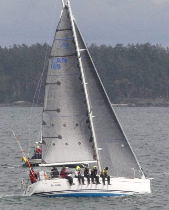 Dufour 34P INVICTUS, finished second overall. Andrew Madding photo.