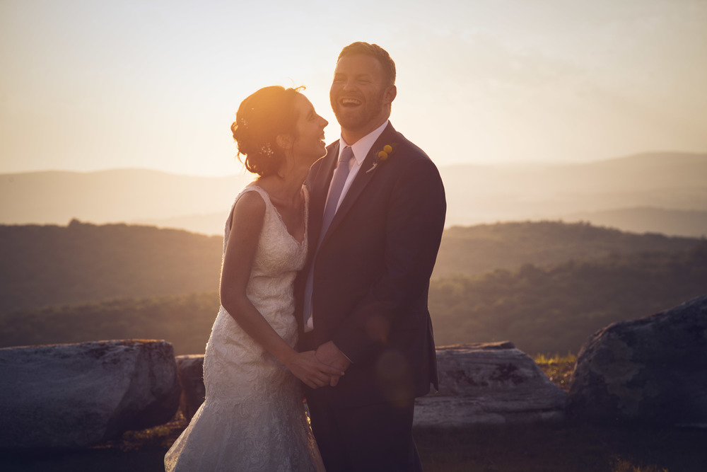 wedding in the sunset