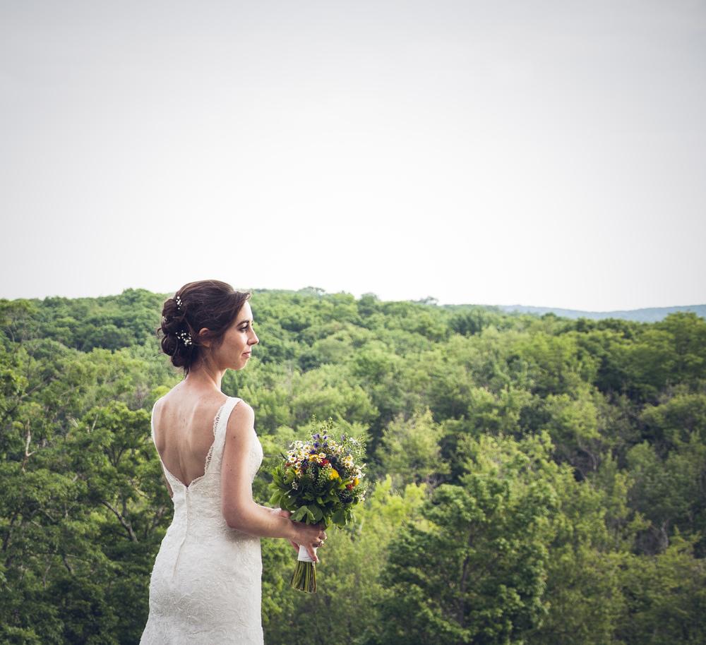 mod bridal portrait