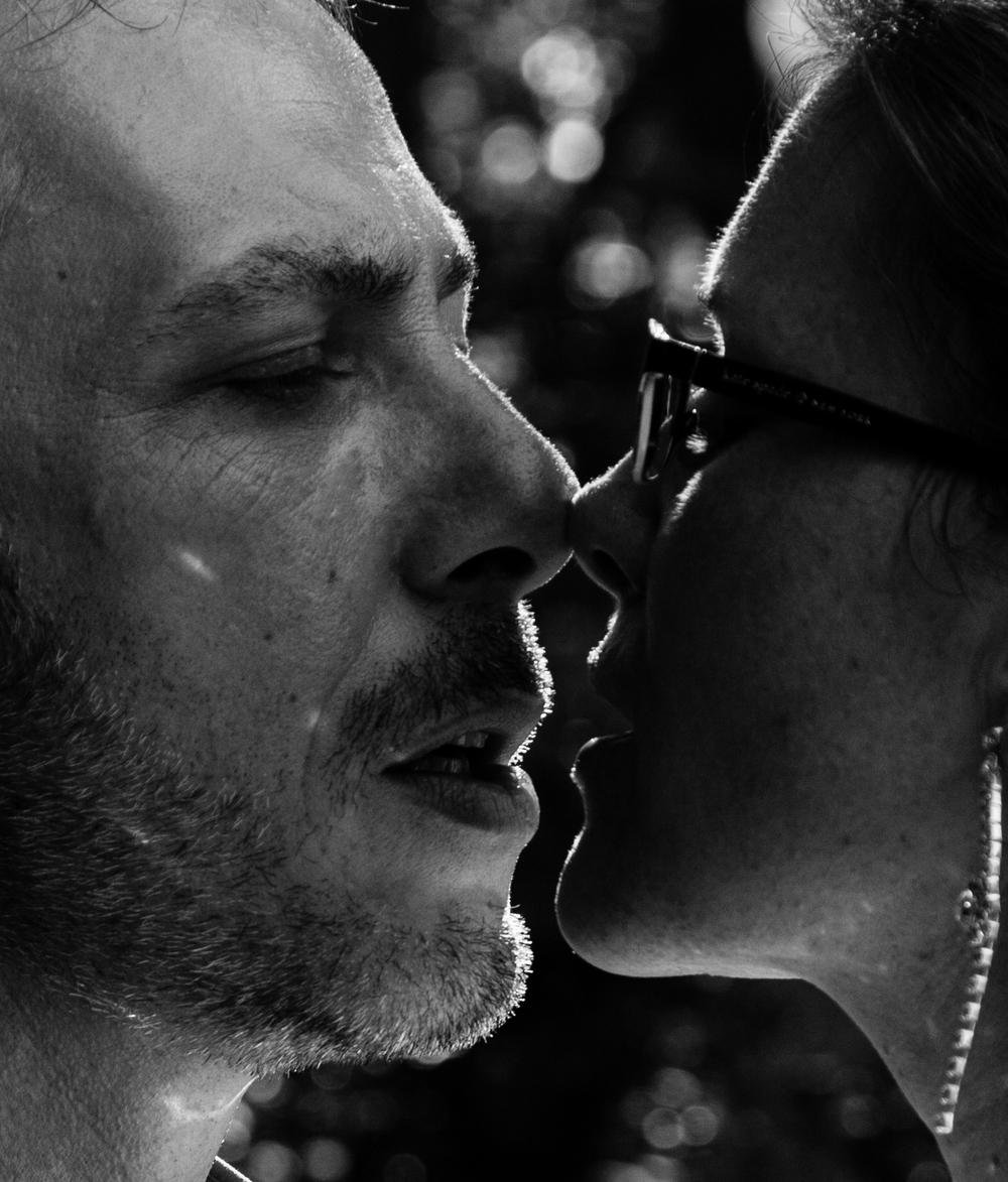Sexy couple kiss