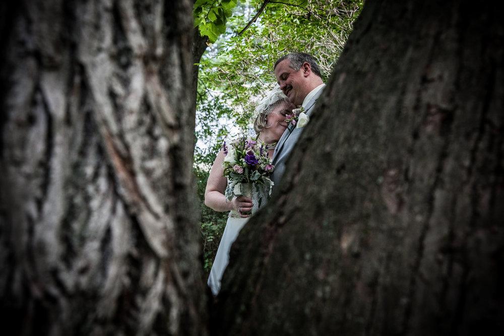 couple through the trees
