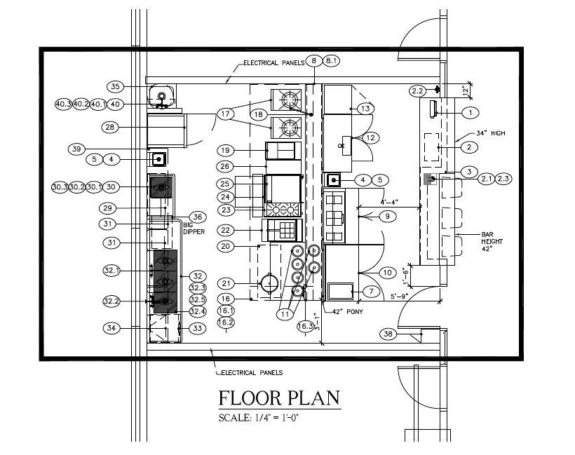 Floor Plan.   Inside Kiosk 10.