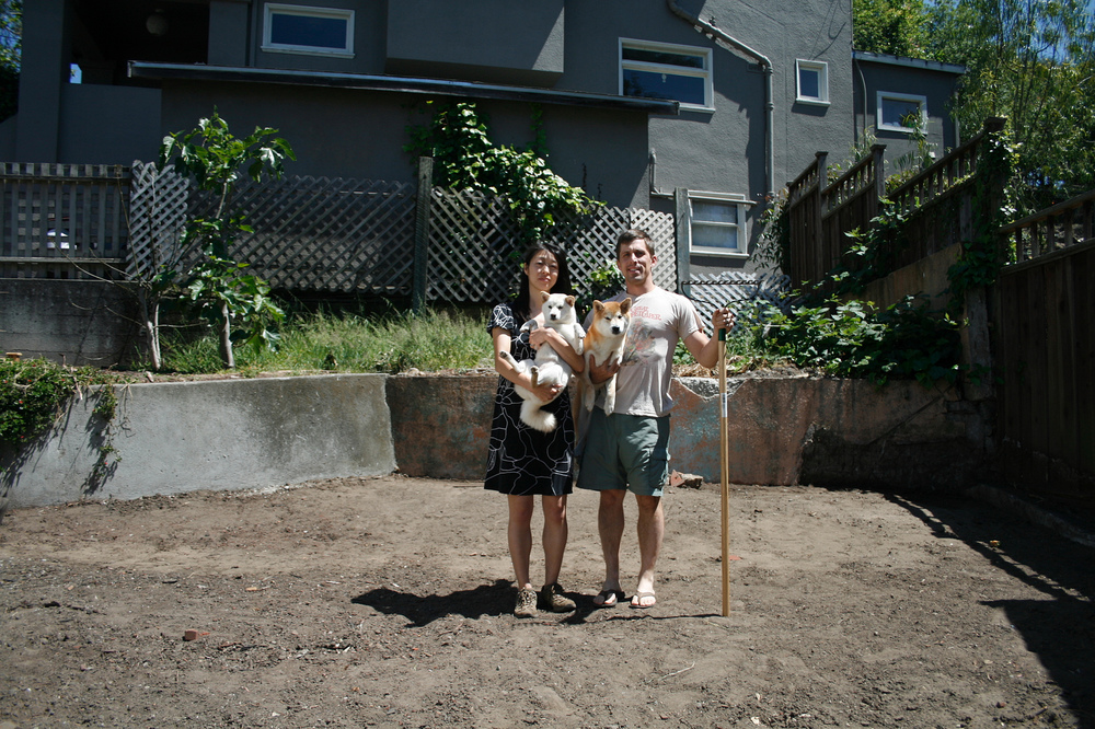 Oakland Pastoral.  With shibas.  Summer 2012.
