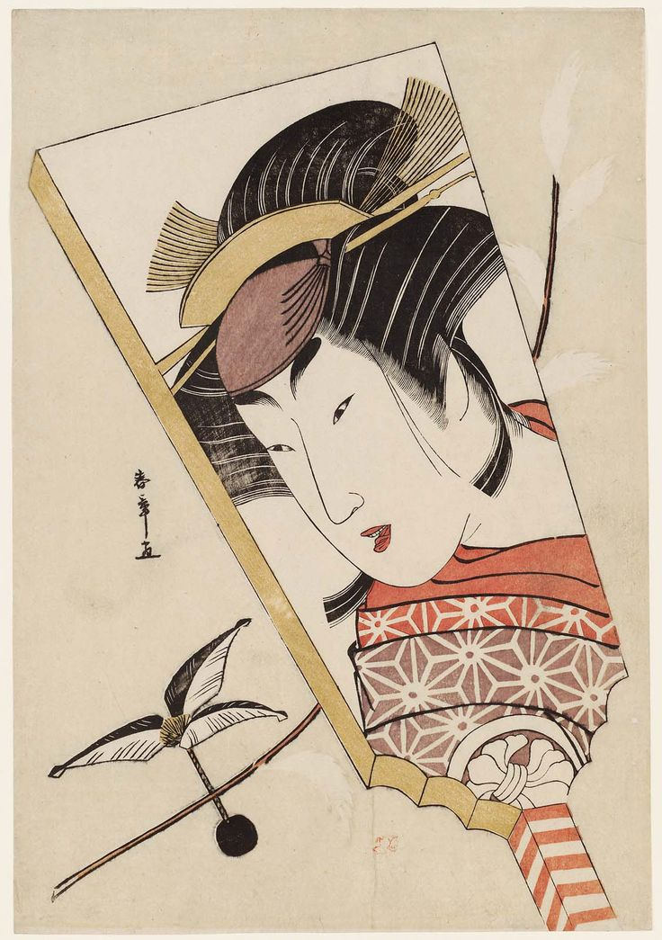 A Battledore (Hagoita) with a Portrait of Actor Segawa Kikunojô III