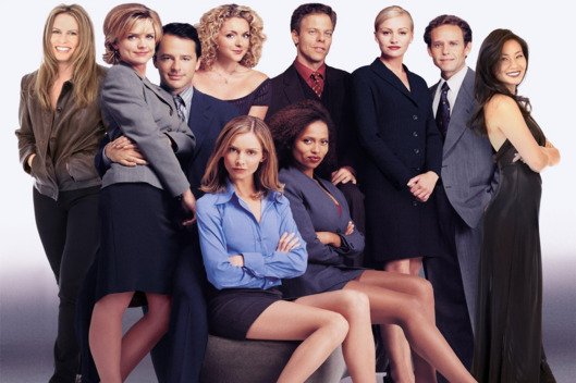 Ally McBeal.A completely accurate representation of lawyering in the big city.