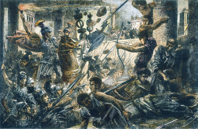 Sulla at the Colline Gate. Second march on Rome.