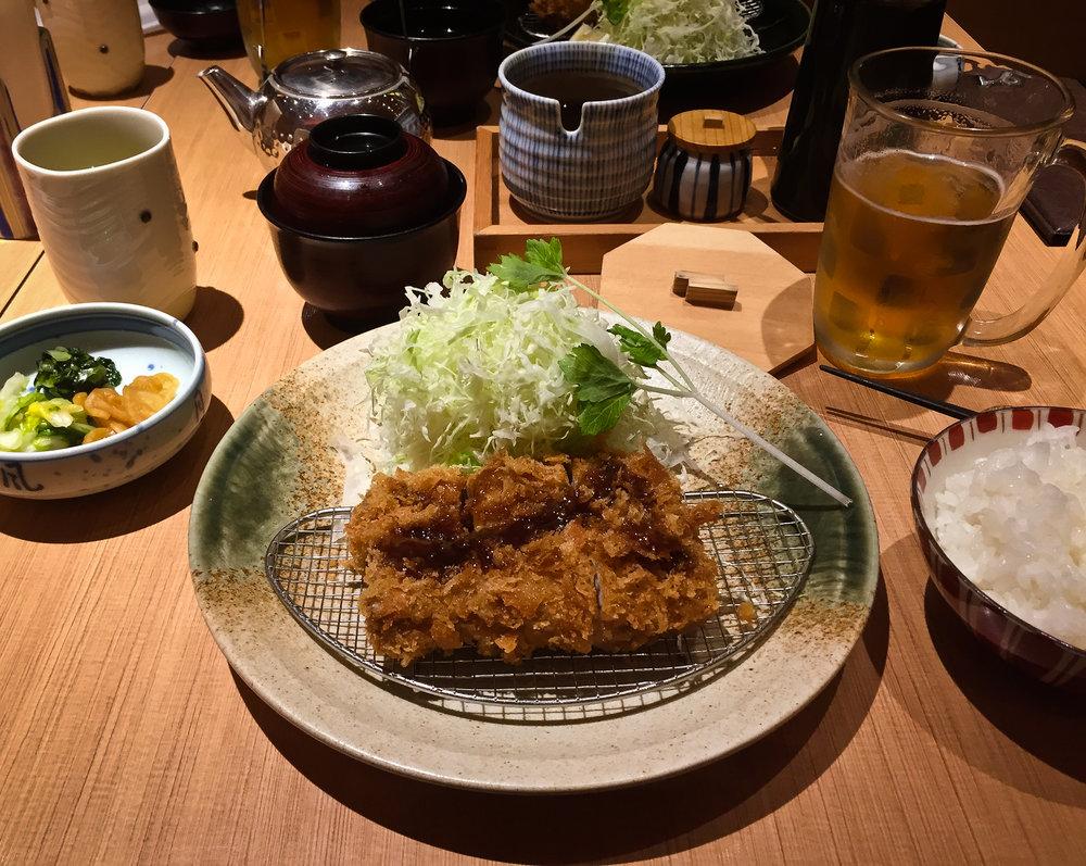 Last Meal.  Tonkatsu-ya. Haneda Airport.
