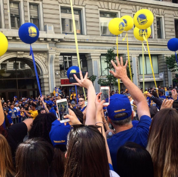 The Warriors' victory parade went right by Shiba Ramen.