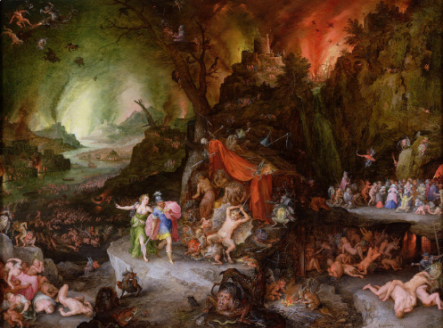 Tartarus.   Aeneas and the Sibyl in the Underworld . Jan Breughel, the Elder (1598)