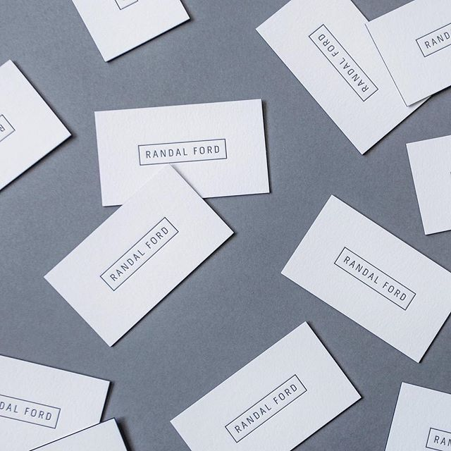 Another shot of business cards for @randalford #letterpress #businesscards