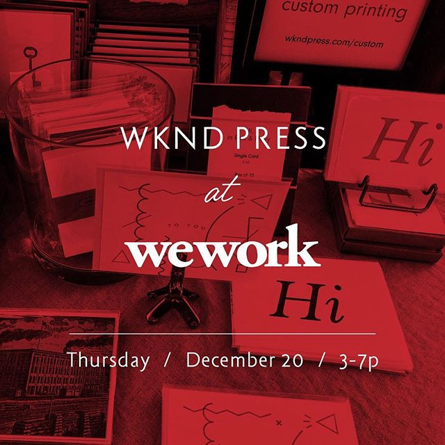 Come see us at Wework Congress this Thursday from 3-7! Local vendors, drinks, and more on floor 16 (via floor 14) at 600 Congress Ave | Grab a few last minute Christmas cards or Stocking Stuffers! ✉️🎄