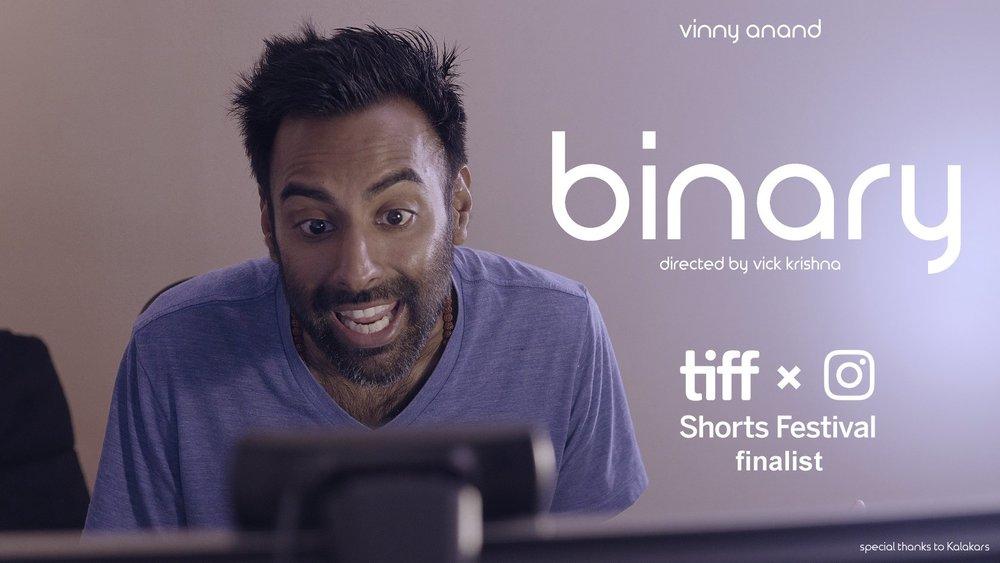 BINARY  / Dir: Vick Krishna  Starring Vinny Anand / TIFFxInstagram shorts festival finalist