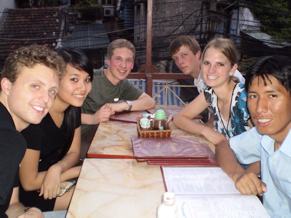 Rooftop Restaurant in Backstreet Hanoi
