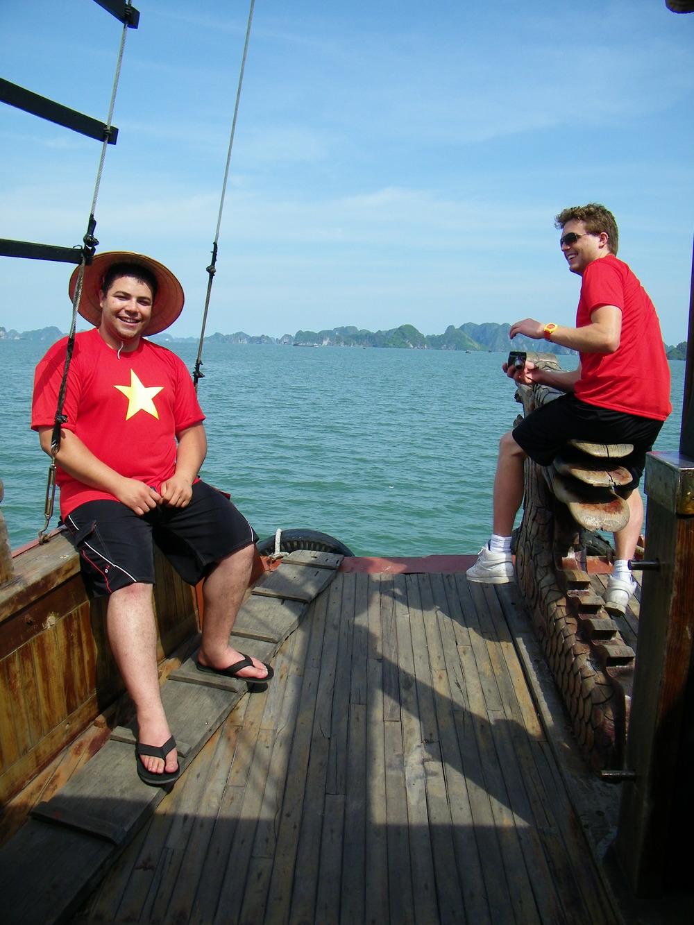 Captain Filali & First Mate Comadena in Ha Long Bay