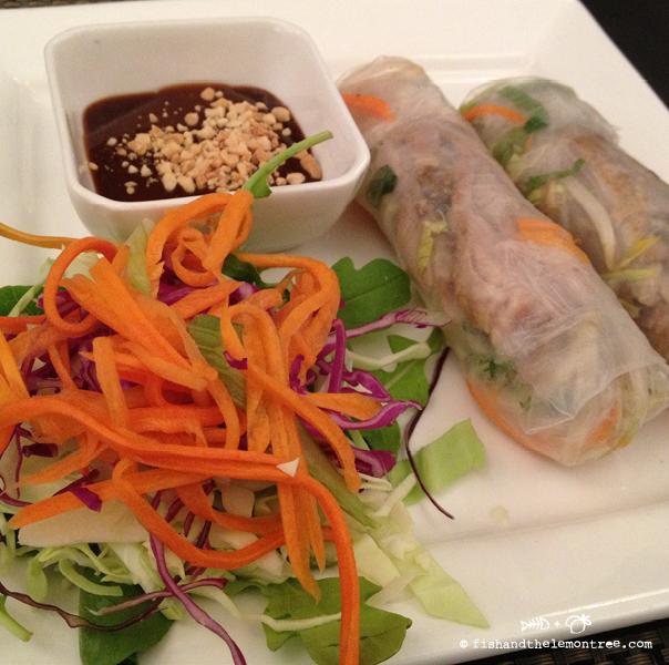 Takeaway - Basil & Mint rice paper rolls - Amie Mason copyright 2013