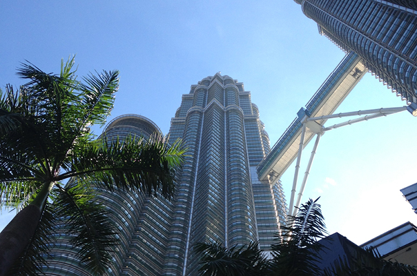 Petronas Twin Towers from the ground