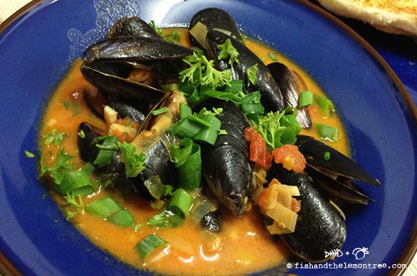Chili Mussels - Amie Mason copyright 2013