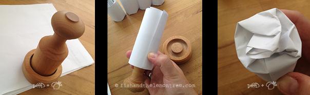 How to make a paper pot! - Amie Mason copyright 2013