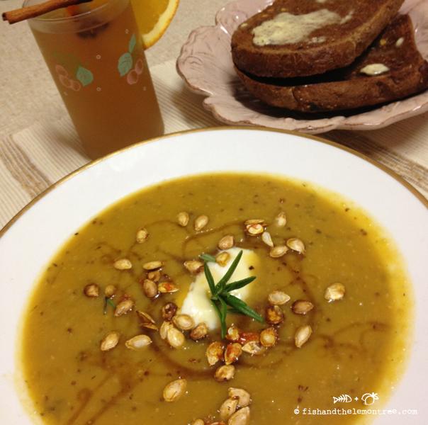 Mustard Honey Pumpkin Soup - Amie Mason copyright 2013