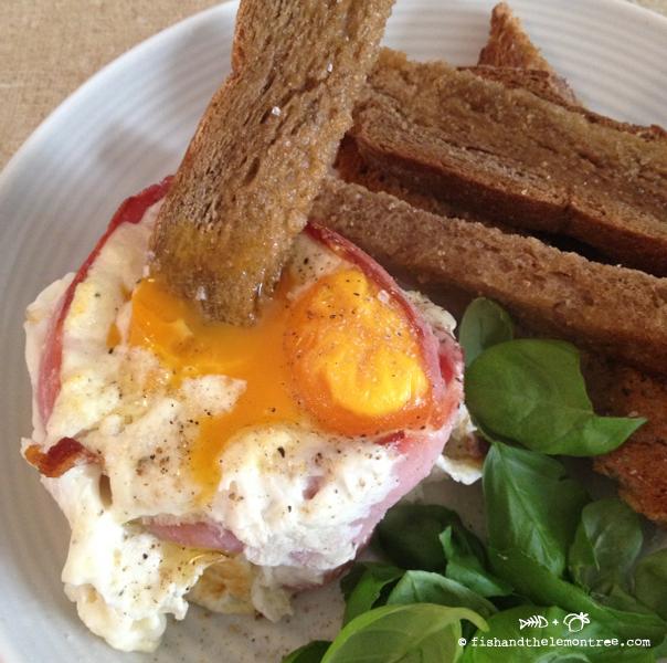 Sour Cream Baked Eggs - Amie Mason copyright 2013