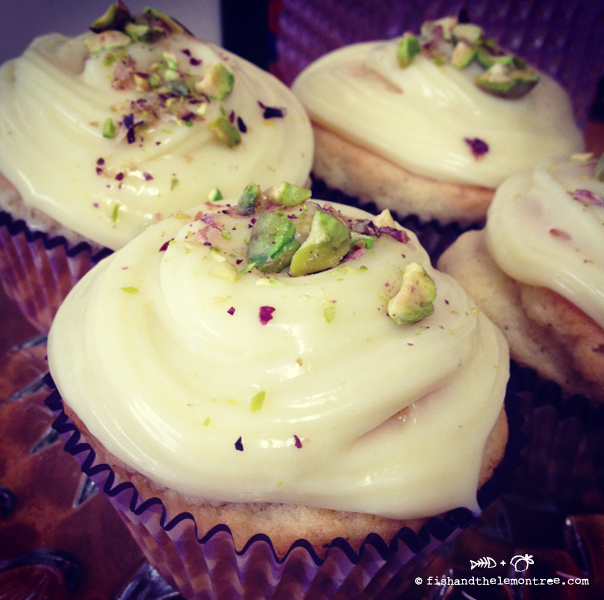 Cardamon White Chocolate Cupcakes - Amie Mason copyright 2013