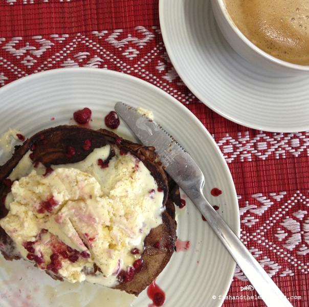 Chocolate Banana Pancakes - Amie Mason copyright 2013