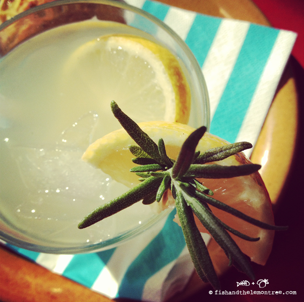 Honey Rosemary Lemonade - Amie Mason copyright 2013