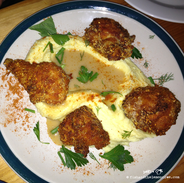 Fried chicken with gravy and mash - Amie Mason copyright 2013