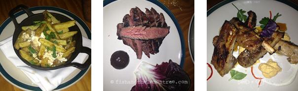 Poutine, Chargrill steak, tamarind pork ribs - Amie Mason copyright 2013