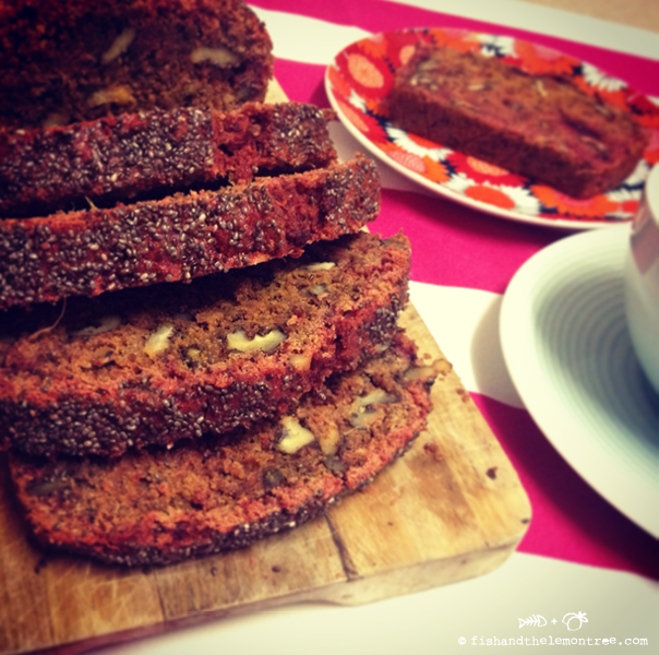 Beetroot Walnut Bread - Amie Mason copyright 2013